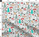 Weihnachten, Urlaub, Schneemann, Schneeflocken, Hirsch,