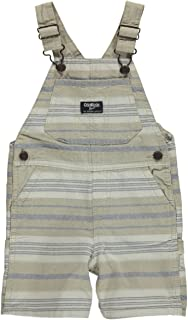 Baby Boys Striped Khaki Shortalls 6 Month