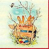 'Portatovaglioli 'Bunnies coniglietti pasquali Pasqua Primavera, tovagliolo Ingegneria fai da te 20pezzi