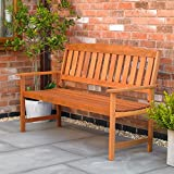 Kingfisher 3 Seater Hardwood <span class='highlight'>Garden</span> Patio Bench