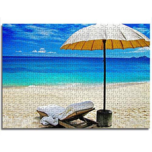CAFO Mini rompecabezas de 1000 piezas para adultos y niños, paraguas y sillas de terraza, rompecabezas de papel