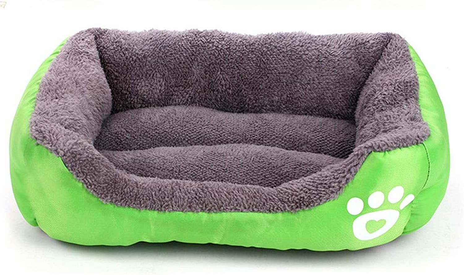 A++ Square Footprint Pet Nest, Home Teddy Medium Small Cat Dog Bed, Four Seasons Universal Oxford Cloth NonSlip Pet Mat (color   Green, Size   40  25  12cm)