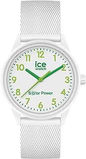 ICE-WATCH - ICE Solar Power Nature numbers Mesh - Weiße Damenuhr mit Silikonarmband - 018739 (Small)