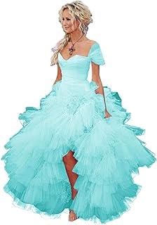 Vestido Corto de Gasa para Mujer Fankeshi
