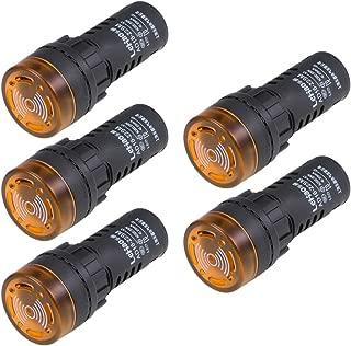 Batteria Mancanza sourcing map Segnale Indicatore Luce DC 12V 8mm Rosso LED Metallo Guscio con Simbolo