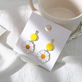MENGYUE Boucles doreilles /À La Mode Fleurs Femme Mignon Romantique Petite Marguerite Gland Boucles doreilles en///Bois Boucles doreilles pour Femmes Bijoux