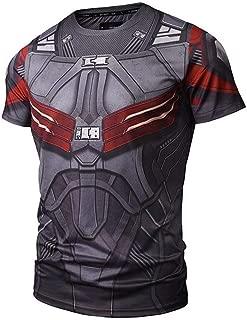Superhero Compression Shirt Mens Fit Tight Bodybuilding T-Shirts Tops