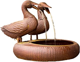 folk art duck water fountain