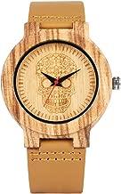 Uniek Skeleton Skull Wijzerplaat Houten Horloge vo...