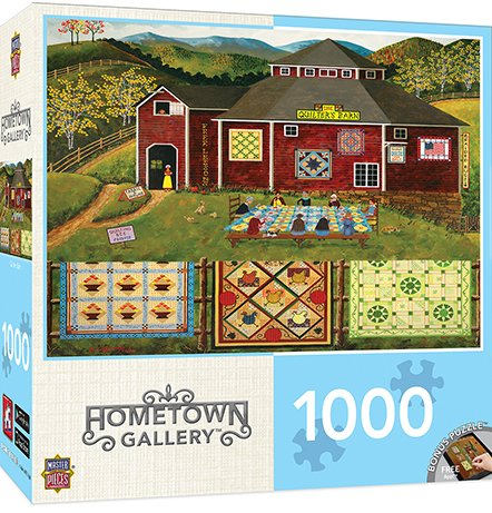 MasterPieces Hometown Gallery Quilter's Barn Jigsaw Puzzle, 1000-Piece