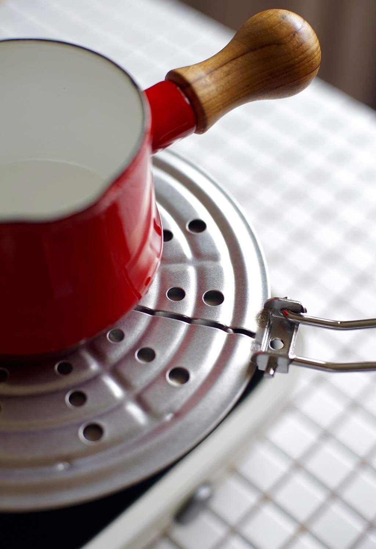 Beau et pratique XLNG émail lait Pot bébé supplément alimentaire Pot de poignée en bois avec couvercle Maison multi-fonction soupe Pot Sans revêtement (Color : White) Red