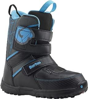 Burton Youth Grom Snowboard Boots 2015, Black-Gray-Blue, 11