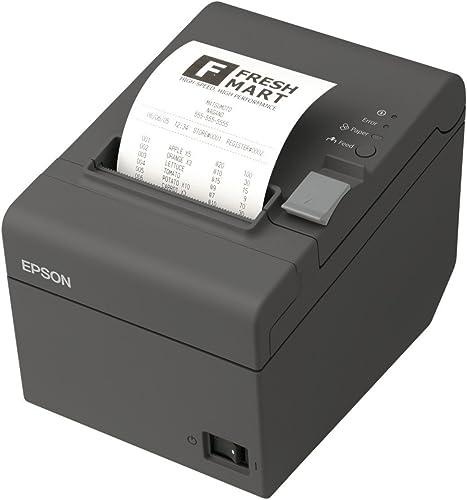 Epson TM-T20II Imprimante thermique, USB, Ethernet (LAN), avec NT, noir (C31CD52003).