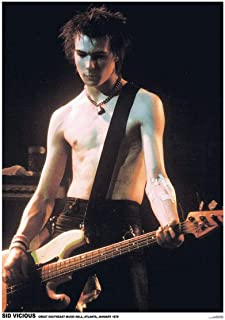 Rare Sid Vicious Atlanta 1978 Music Concert Poster 23.5 x 33 inch Out of Print