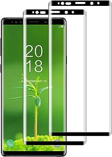 DASFOND Protector Pantalla para Samsung Galaxy Note 9, [2 Piezas] Cristal Templado Galaxy Note 9 Vidrio Templado,[Cobertura Completa] [9H Dureza] [Sin Burbujas],HD Transparente Resistente Arañazos