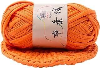 T-Shirt Yarn Fettuccini Zpagetti Style Crocheting Ribbon Yarn Knitting Yarn Ball Macrame T-Yarn Thick Fabric Yarn Orange