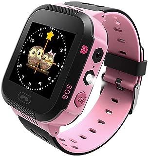 SZBXD Kids GPS Smartwatch, 1.44 inch Touch Anti-Lost Smartwatch for Children Girls Boys with Camera SIM Calls SOS Smartwatch (Pink)