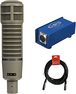 Electro-Voice RE20 Broadcast Announcer Microphone with Cloud Microphone CL-1 Cloudlifter Mic Activator & 20' XLR Cable Bundle