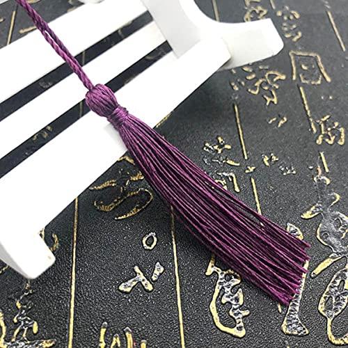 100 Unids / Lote Poliéster Seda Borlas largas DIY Artesanía Cuerda Colgante Borlas Fringe Trim Ropa Costura Accesorio Decoración Cortinas-Café Oscuro