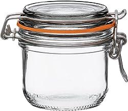 Le Parfait Super Terrine - 200ml French Glass Canning Jar w/Straight Body, Airtight Rubber Seal & Glass Lid, 7oz/Half Pint...
