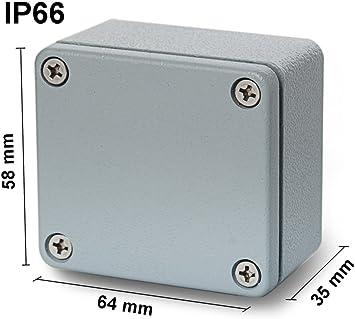 EDI-TRONIC carcasa caja recinto industrial vac/ío en aluminio 188x120x78mm FA3 IP66