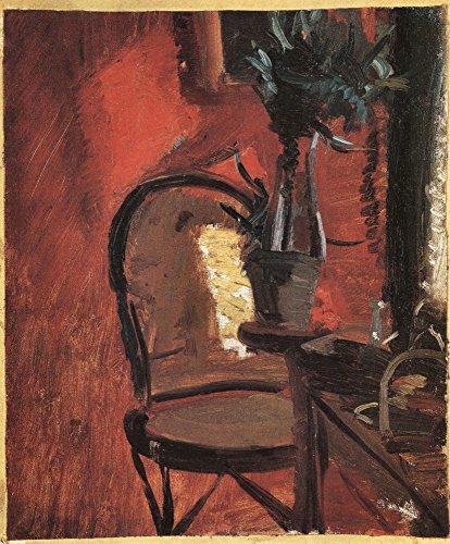 Il Museo outlet–Sedia con una pianta, prima Rosso muro di Anna Ancher–Poster Print comprare online (76,2x 101,6cm)