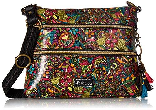 Sakroots womens Women's Artist Circle Cross Body Handbag, Rainbow Spirit Desert, One Size US