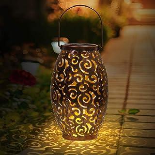 infinitoo Solar Lantern, Outdoor Waterproof Garden LED Solar Light, Hanging Decorative Metal Solar Powered Lantern for Gar...