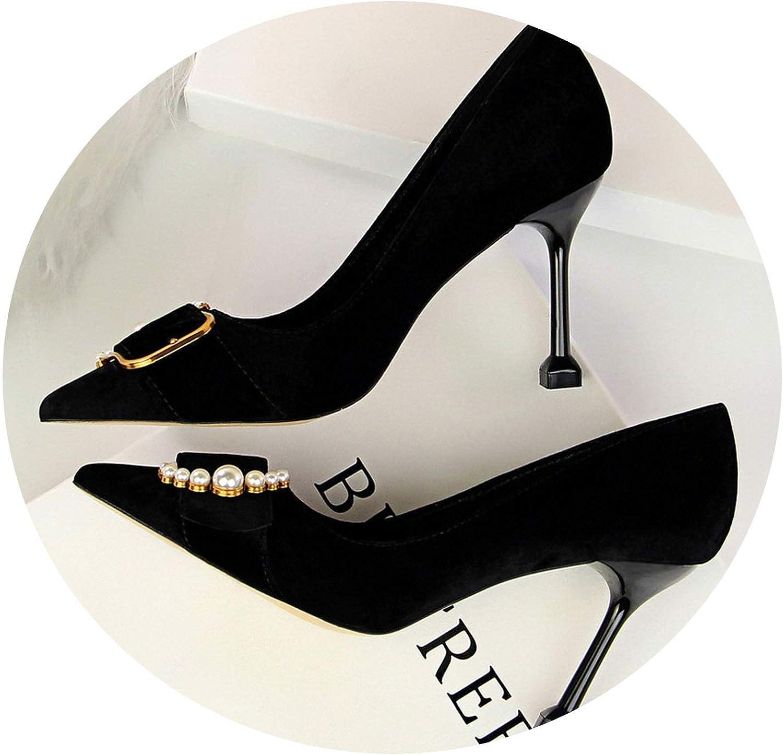 DATAIYANG Women 10cm High Heels Bridal Pumps Lady Pointed Heels Female Scarpins Talon Hauts shoes
