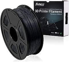 SUNLU PLA Plus 3D Printer Filament - 1.75mm PLA+ Filament, Dimensional Accuracy +/- 0.02 mm, 1KG(2.2LBS) Spool, Black