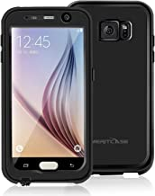 meritcase Waterproof Case for Samsung Galaxy S6 [2015 Release] Slim Fit Full-Body Shockproof Cover with Built-in Screen Protector - Black