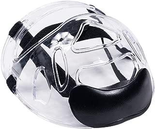 Martial Arts Clear Face Shield, Transparent Sport Head Protective Gear Detachable Taekwondo Karate Taekwondo Helmet Mask Sparring Gear Guard for Children Men Women