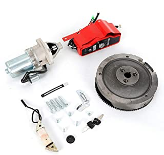 HYYKJ Electric Start Kit Fit for Honda GX340 11HP GX390 13HP Engine Starter Motor with Solenoid FlyWheel Key Switch Charging Coil