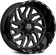 TIS 544BM BLACK Wheel with Gloss CNC Milled Accents (0 x 12. inches /5 x 127 mm, -44 mm Offset)