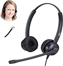 RJ9 Cisco Headset for Telephone with Noise Cancelling Microphone Compatible with 7841 7942G 8841 7931G 7940 7941G 7945G 7960 7961G 7962G 7965G 7970 7971 7971G 7975 7975G etc