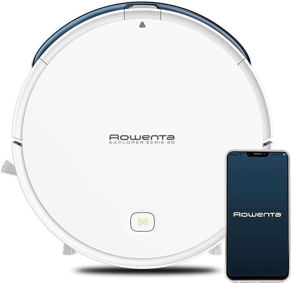 Rowenta rr7267 explorer  wi-fi, compatibile con assistenti vocali, alexa panno lava pavimenti