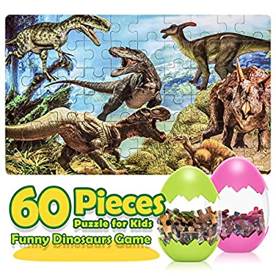 Toys for 3-10 Year Old Boys Girls, Fricon Fun Dinosaur Jigsaw Puzzle for Kids Ages 4-8 Educational Learning Toys Easter Birthday Gifts for 3-10 Year Old Boys