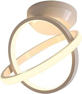Yyqx Lamparas de Techo habitacion Luz de Techo Circular Moderna Simple Luz de Techo LED Pasillo Cocina Luz Creativa Lampara Plafon (Color : White Light)