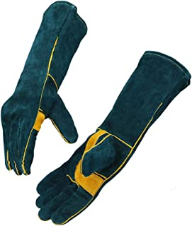 Handing workshop Welding Gloves EXTREME HEAT RESISTANT Cow Split Leather BBQ Camping Cooking Weld Gloves Baking Grill Gloves Mitts for Tig Welder Fireplace Stove Pot Holder Glove