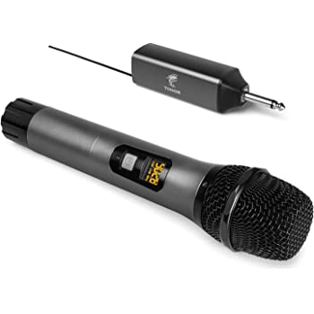 Wireless Microphone, TONOR UHF Metal Cordless Handheld Mic System with Rechargeable Receiver, for Karaoke, Singing, Party, Wedding, Meeting, DJ, Speech, Class Use, 200ft (TW-620)