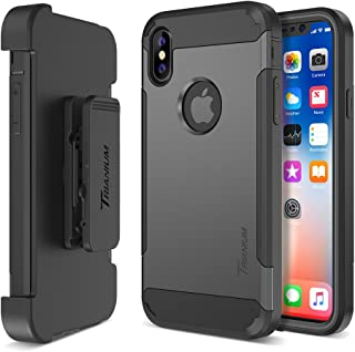 Trianium Duranium Holster Case Compatible with iPhone Xs & iPhone X Case (5.8