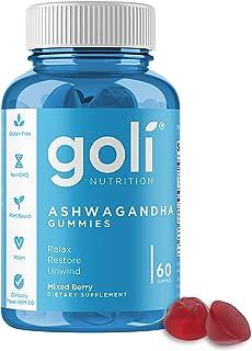 ASHWA Vitamin Gummy by Goli Nutrition - Ashwagandha Gummies - Relax. Restore. Unwind. (Mixed Berry, KSM-66, Vegan, Plant B...