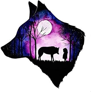 5d Diamond Painting Kits for Adults Kids Full Drill Diamond for Home Wall Decor Wolf and Child 11.8x11.8in 1 Pack by May Bob