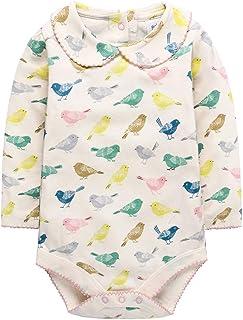 ACVIP Baby Girl's Birds Print Long Sleeves Pantless Bodysuit (Beige,12-18 Months)