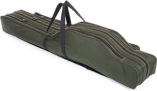 Lixada Fishing Rod Carrier Portable Folding Canvas Fishing Pole Tools Storage Bag Case Fishing Gear Tackle