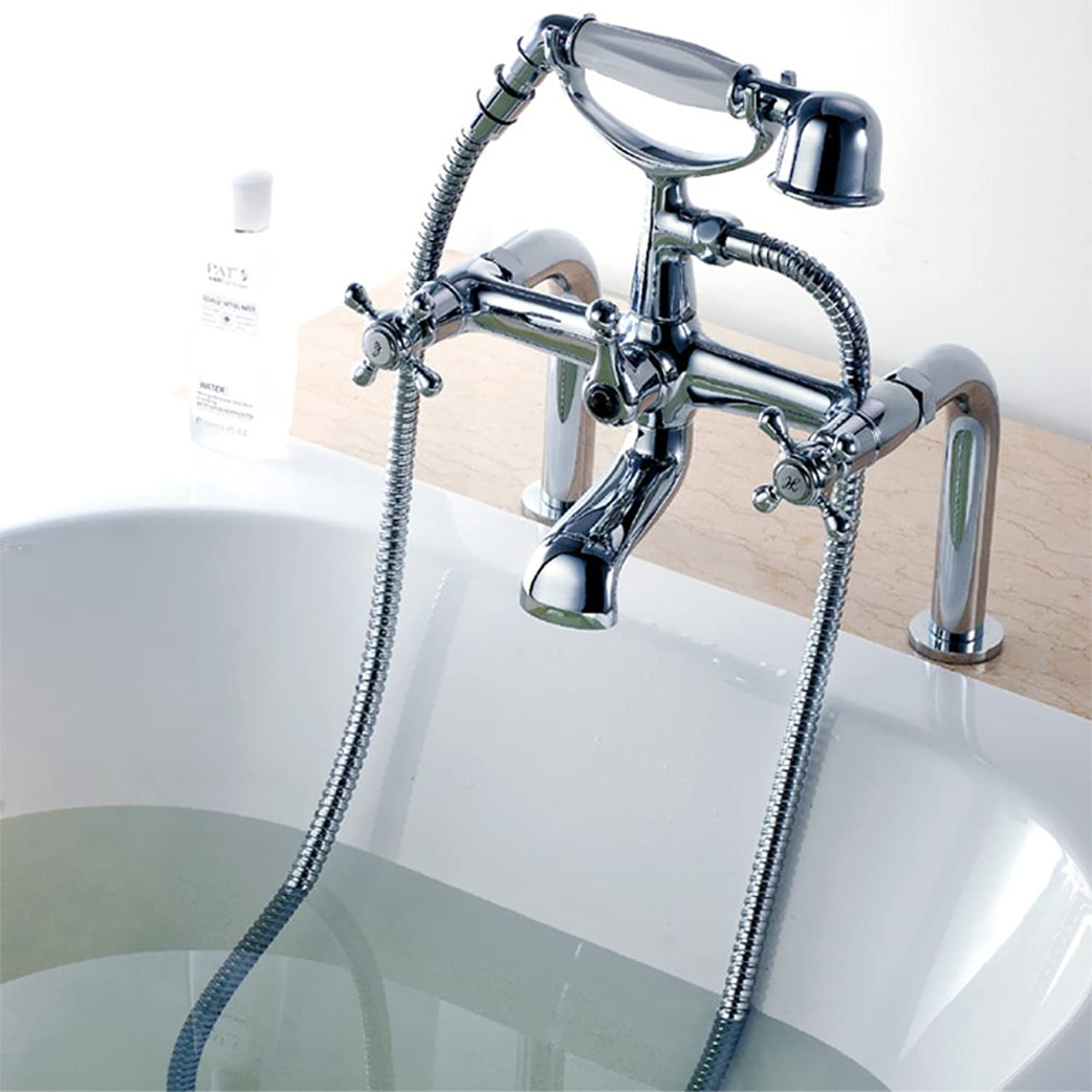 Tub Faucet Tank Side Shower Mixer hot and Cold Water Sprinkle Set-B
