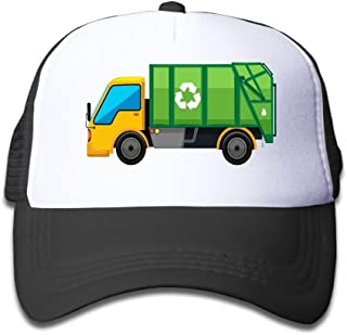 Cartoon Garbage Truck Cartoon Boys Sun Hat Baseball Caps Adjustable Trucker Cap