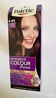Palette Permanent Cream Hair Dye for Women, Intensive Aubergine 4-89 - 3838824128283