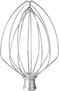 K5AWW 6-Wire Whip Attachment For Tilt-Head Stand Mixer, Stainless Steel. Egg Heavy Cream Beater, Cakes Mayonnaise Whisk Mi...