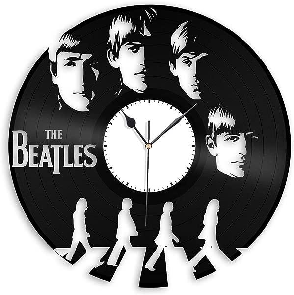 VinylShopUS Beatles Vinyl Wall Clock Music Bands And Musicians Themed Souvenir